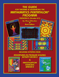 The Guide for Teaching and Sequencing the Mathematics Pentathlon Program Division III-3