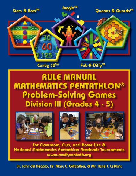 The Rule Manual for Mathematics Pentathlon Problem Solving Games Division III-3