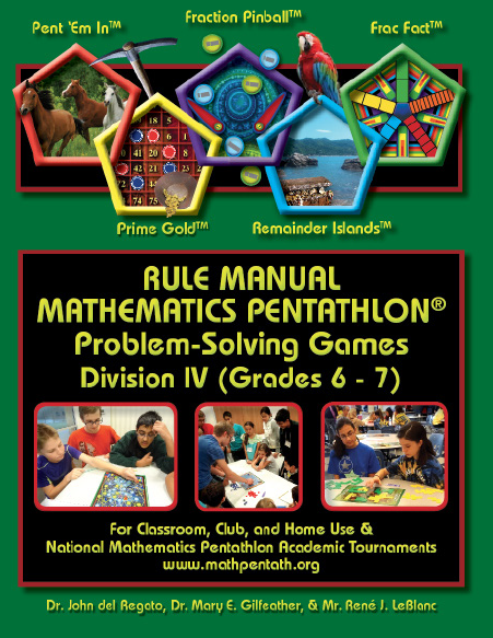 The Rule Manual for Mathematics Pentathlon Problem Solving Games Division III-4